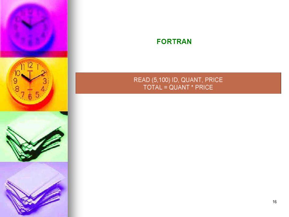 16 FORTRAN
