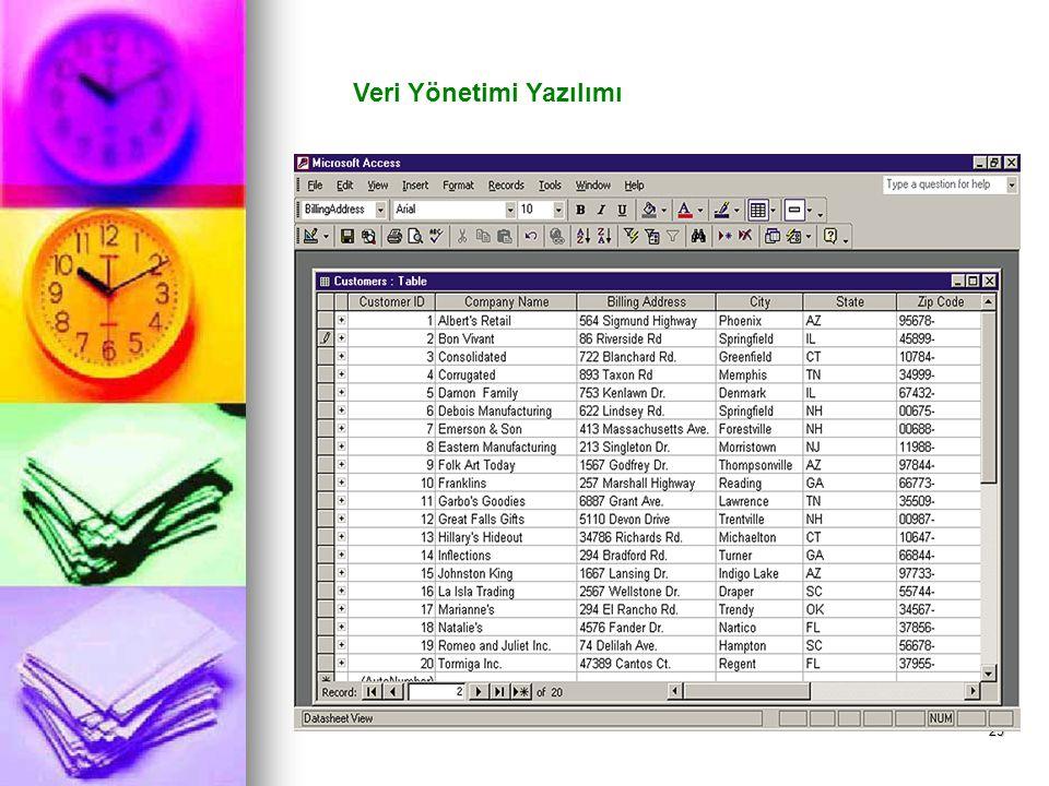 25 Veri Yönetimi Yazılımı