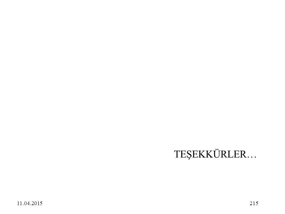 215 TEŞEKKÜRLER… 11.04.2015