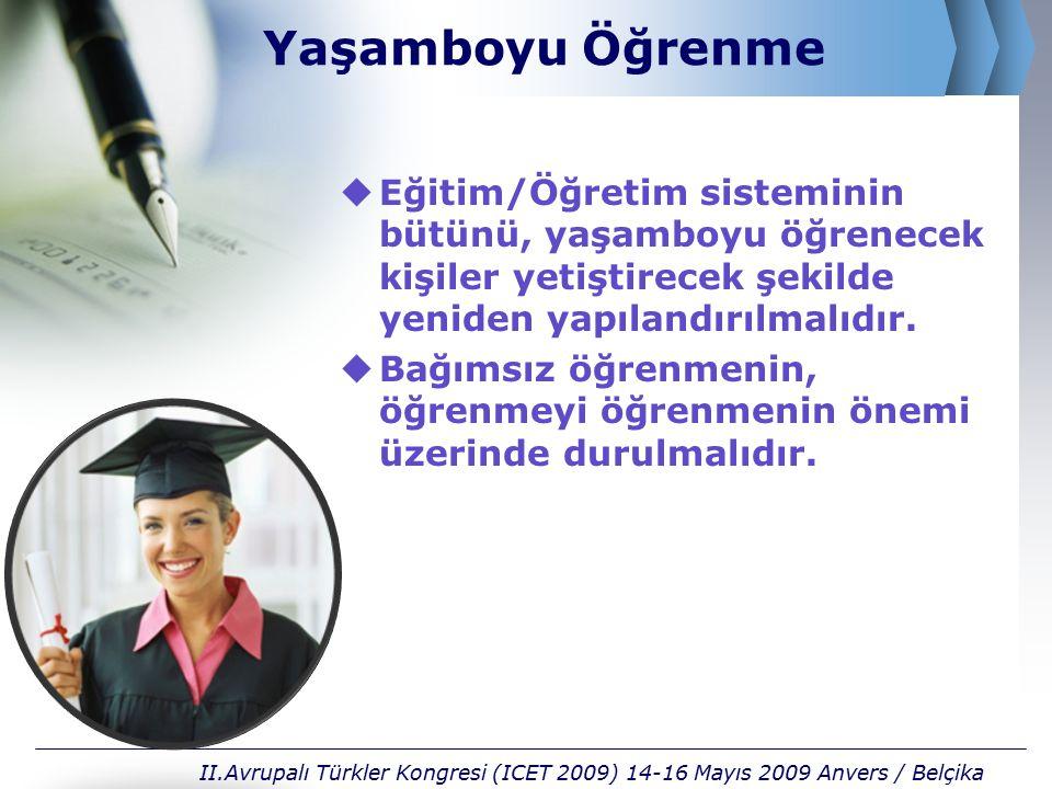 Teşekkürler hayatın içinde embracing life II.Avrupalı Türkler Kongresi (ICET 2009) 14-16 Mayıs 2009 Anvers / Belçika