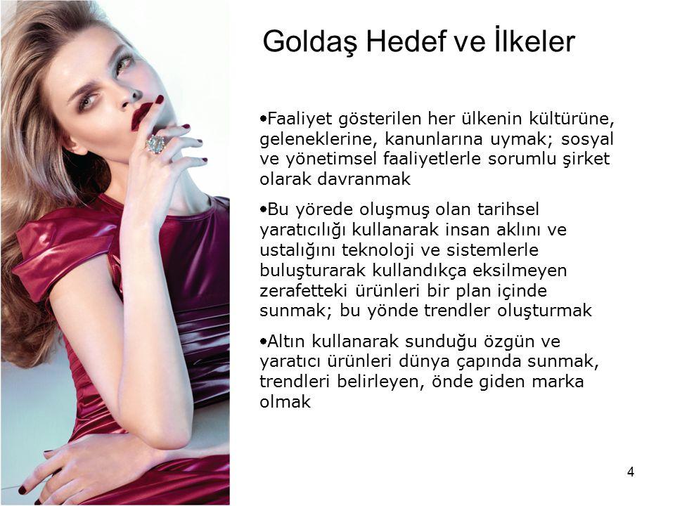 5 Goldaş İstanbul'daki tesislerinde yılda 18 milyon adet üretim kapasitesine sahiptir.