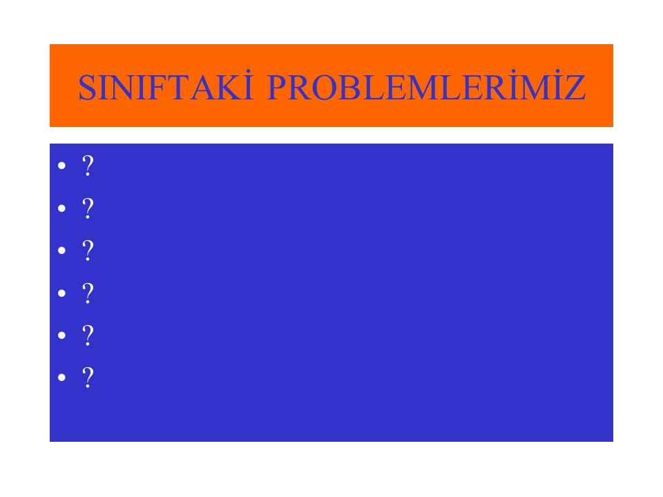SINIFTAKİ PROBLEMLERİMİZ ?