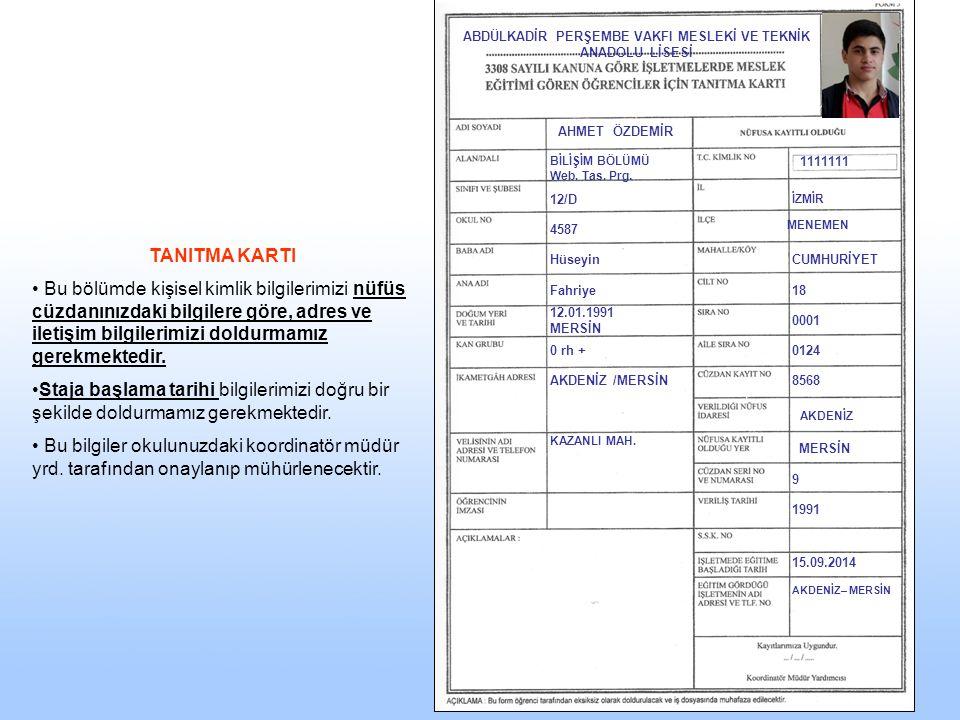 …..Anadolu Meslek Ve Meslek Lisesi 11-A2013 Ali YILDIZ Hüseyin Yıldız 0(212) 6596999 Güncel bil.