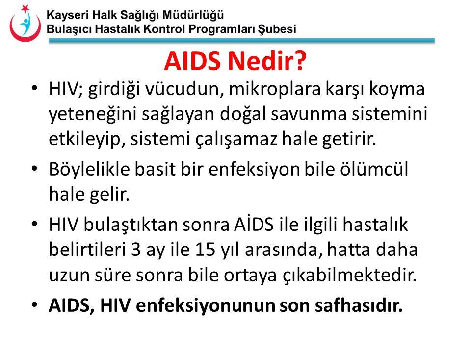 *Dünyada ilk AIDS vakası 1981 yılında Amerikada ortaya çıkmıştır.