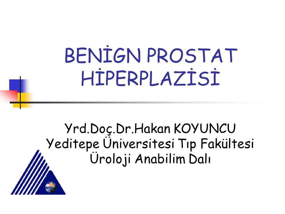 BENİGN PROSTAT HİPERPLAZİSİ Yrd.Doç.Dr.Hakan KOYUNCU Yeditepe Üniversitesi Tıp Fakültesi Üroloji Anabilim Dalı
