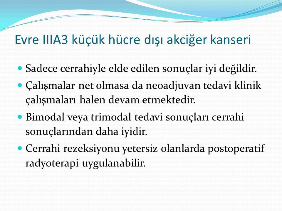 Evre IIIA3 küçük hücre dışı akciğer kanseri Sadece cerrahiyle elde edilen sonuçlar iyi değildir.