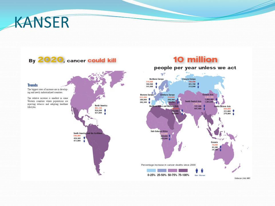 AKCİĞER KANSERİ Hastalık ölümcül seyreder. 5 yıllık sağkalım 1974-1976 %12.5 1995-2001 %15.7