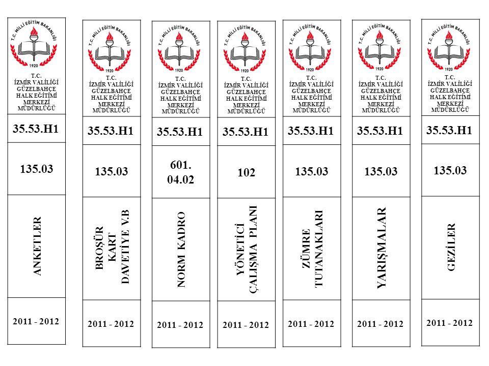 T.C. İZMİR VALİLİĞİ GÜZELBAHÇE HALK EĞİTİMİ MERKEZİ MÜDÜRLÜĞÜ 35.53.H1 135.03 ANKETLER 2011 - 2012 T.C. İZMİR VALİLİĞİ GÜZELBAHÇE HALK EĞİTİMİ MERKEZİ