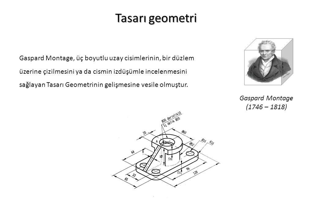 Tasarı geometri Gaspard Montage, üç boyutlu uzay cisimlerinin, bir düzlem üzerine çizilmesini ya da cismin izdüşümle incelenmesini sağlayan Tasarı Geo