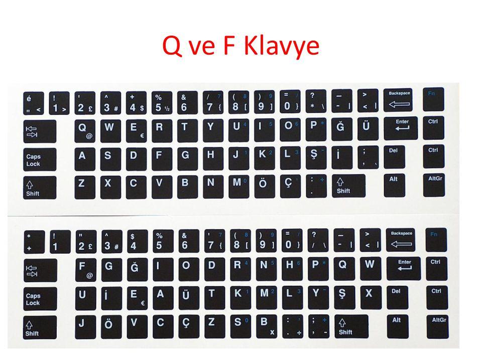 Q ve F Klavye 27