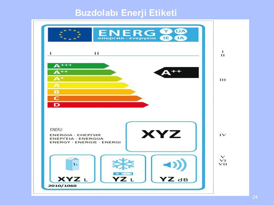 Buzdolabı Enerji Etiketi 24 ENERJ İ