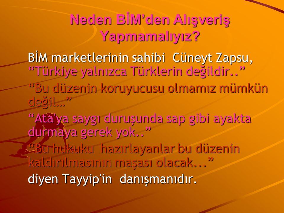 """BİM marketlerinin sahibi Cüneyt Zapsu, """"Türkiye yalnızca Türklerin değildir.."""" """"Bu düzenin koruyucusu olmamız mümkün değil…"""" """"Ata'ya saygı duruşunda s"""