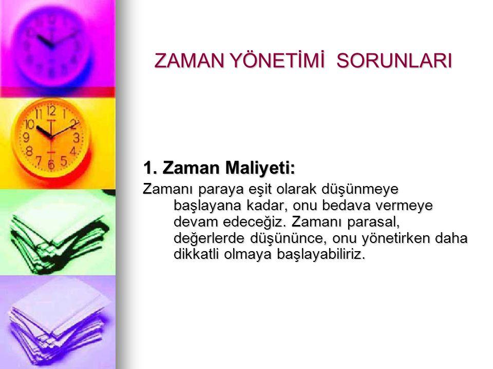 ZAMAN YÖNETİMİ SORUNLARI 1.