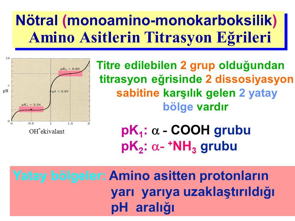 Nötral (monoamino-monokarboksilik) Amino Asitlerin Titrasyon Eğrileri Nötral (monoamino-monokarboksilik) Amino Asitlerin Titrasyon Eğrileri OH - ekiva