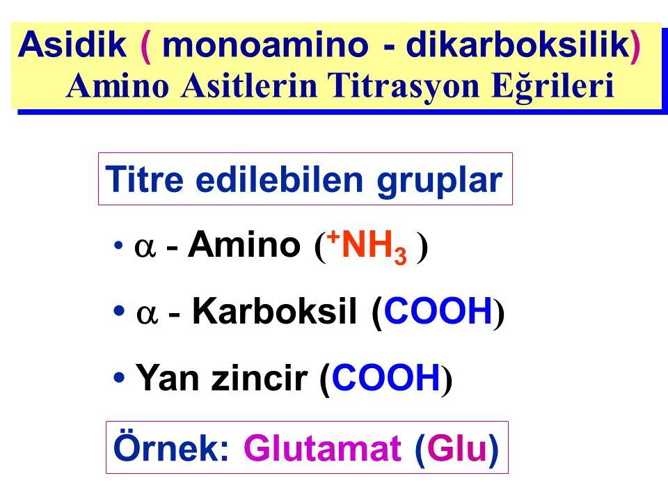Asidik ( monoamino - dikarboksilik) Amino Asitlerin Titrasyon Eğrileri Asidik ( monoamino - dikarboksilik) Amino Asitlerin Titrasyon Eğrileri Titre ed