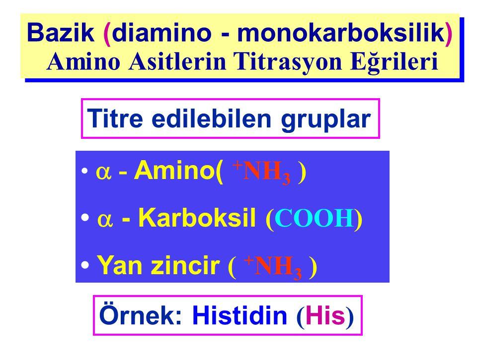 Bazik (diamino - monokarboksilik) Amino Asitlerin Titrasyon Eğrileri Bazik (diamino - monokarboksilik) Amino Asitlerin Titrasyon Eğrileri Titre edileb