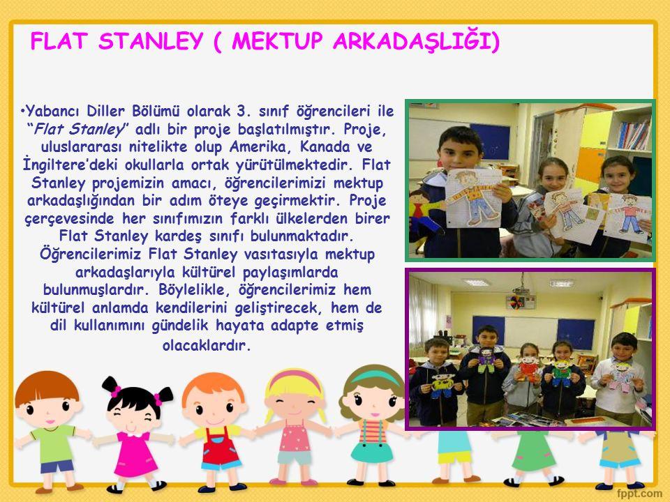 """FLAT STANLEY ( MEKTUP ARKADAŞLIĞI) Yabancı Diller Bölümü olarak 3. sınıf öğrencileri ile """"Flat Stanley"""" adlı bir proje başlatılmıştır. Proje, uluslara"""