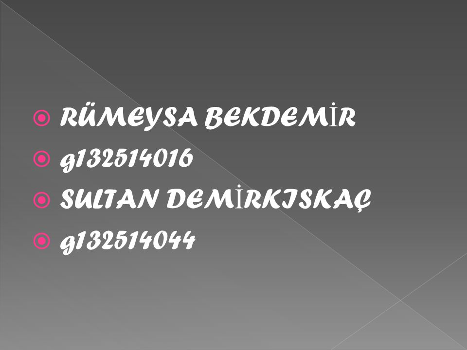  RÜMEYSA BEKDEM İ R  g132514016  SULTAN DEM İ RKISKAÇ  g132514044