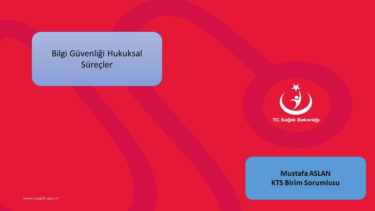 Bilgi Güvenliği Hukuksal Süreçler Mustafa ASLAN KTS Birim Sorumlusu