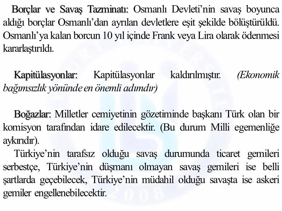 Ekonomi Alanında Yapılan İnkılaplar İzmir İktisat Kongresi toplanmış, alınan kararlar Misak-ı İktisadi olarak kabul edilmiştir.