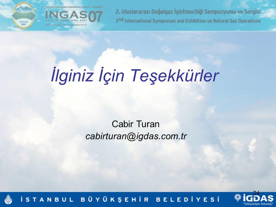 24 İlginiz İçin Teşekkürler Cabir Turan cabirturan@igdas.com.tr