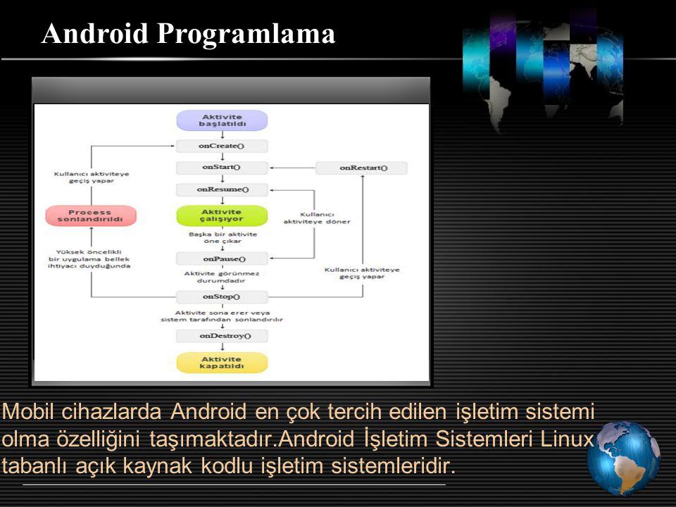 Mobil cihazlarda Android en çok tercih edilen işletim sistemi olma özelliğini taşımaktadır.Android İşletim Sistemleri Linux tabanlı açık kaynak kodlu