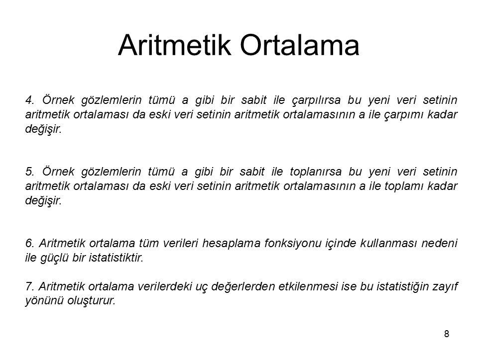 8 Aritmetik Ortalama 4.