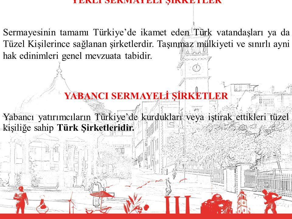 T.C. BALIKESİR VALİLİĞİ YERLİ SERMAYELİ ŞİRKETLER Sermayesinin tamamı Türkiye'de ikamet eden Türk vatandaşları ya da Tüzel Kişilerince sağlanan şirket