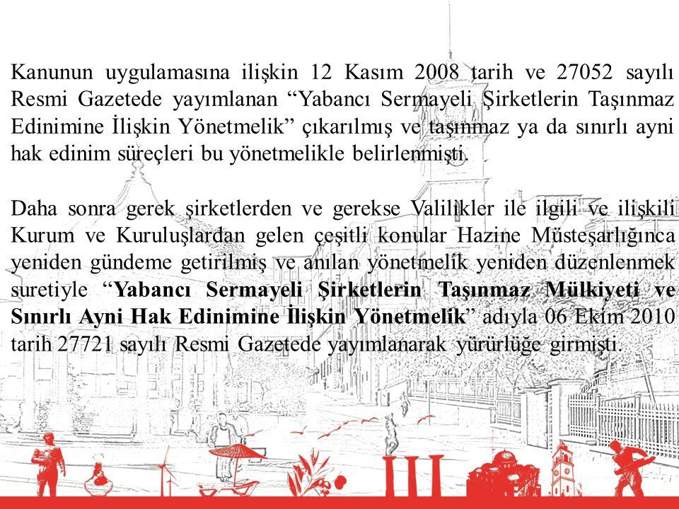 """T.C. BALIKESİR VALİLİĞİ Kanunun uygulamasına ilişkin 12 Kasım 2008 tarih ve 27052 sayılı Resmi Gazetede yayımlanan """"Yabancı Sermayeli Şirketlerin Taşı"""