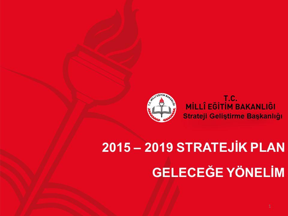 Strateji Geliştirme Başkanlığı 2015 – 2019 STRATEJİK PLAN GELECEĞE YÖNELİM 1
