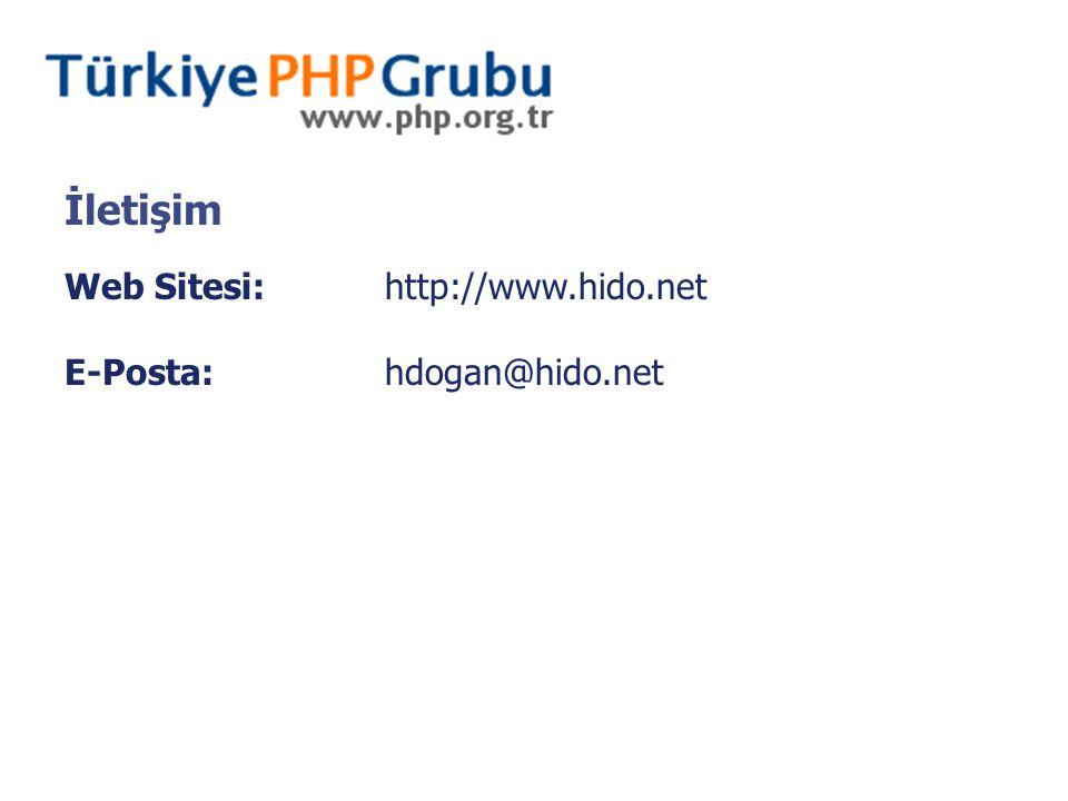 Web Sitesi:http://www.hido.net E-Posta:hdogan@hido.net İletişim