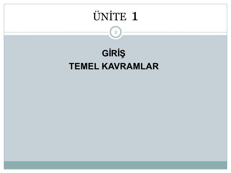 ÜNİTE 1 GİRİŞ TEMEL KAVRAMLAR 2