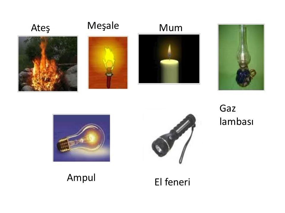 Ateş Meşale Mum Gaz lambası Ampul El feneri