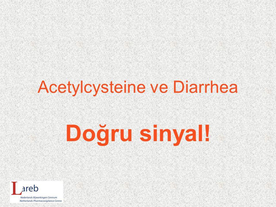 Acetylcysteine ve Diarrhea Doğru sinyal!