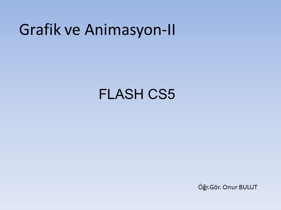Flash CS5 hareketli görüntüler yani animasyon oluşturmak için kullanılır.