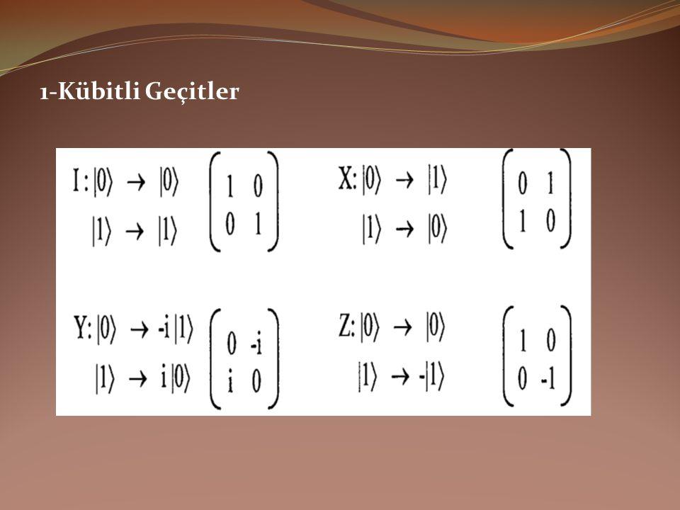 2-Kübitli Geçitler 0 1 0 0 girdisi için, 0 çıktısı alınabilir mi.