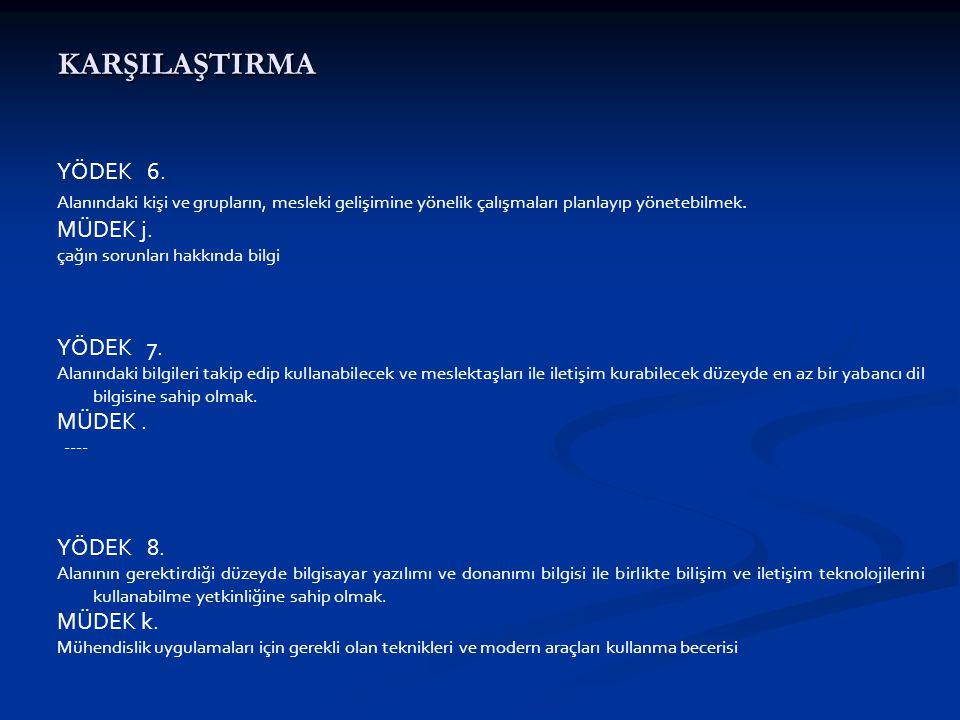 KARŞILAŞTIRMA YÖDEK 6.