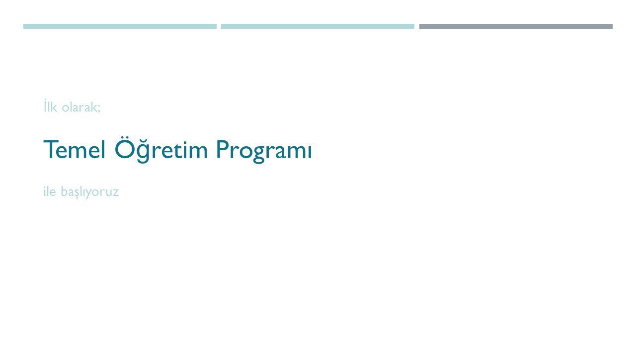 Temel Öğretim Programı ders kayıt Birim, Kurs, E ğ itim Programı seçiyoruz.