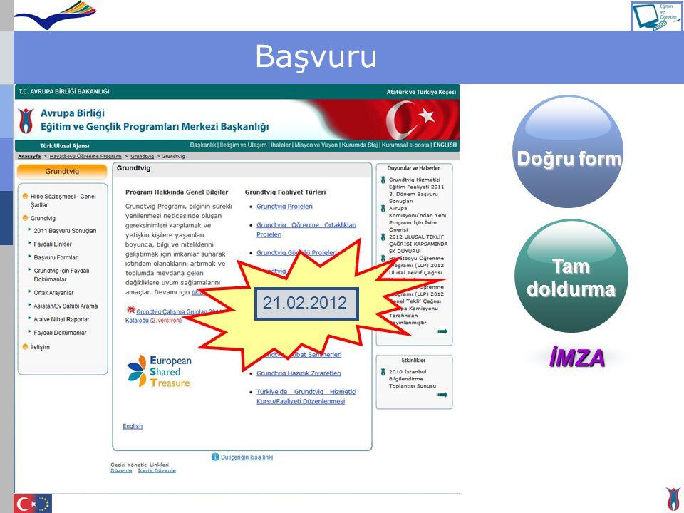 Başvuru 21.02.2012 Doğru form Tamdoldurma İMZA