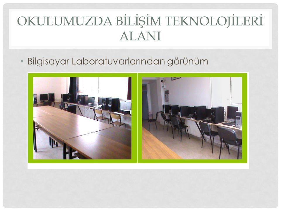 OKULUMUZDA BİLİŞİM TEKNOLOJİLERİ ALANI Okulumuzda Bilişim Teknolojileri Branşında 9.sınıflarda 2 saatlik Seçmeli Bilgi İletişim Dersi anlatılmaktadır.