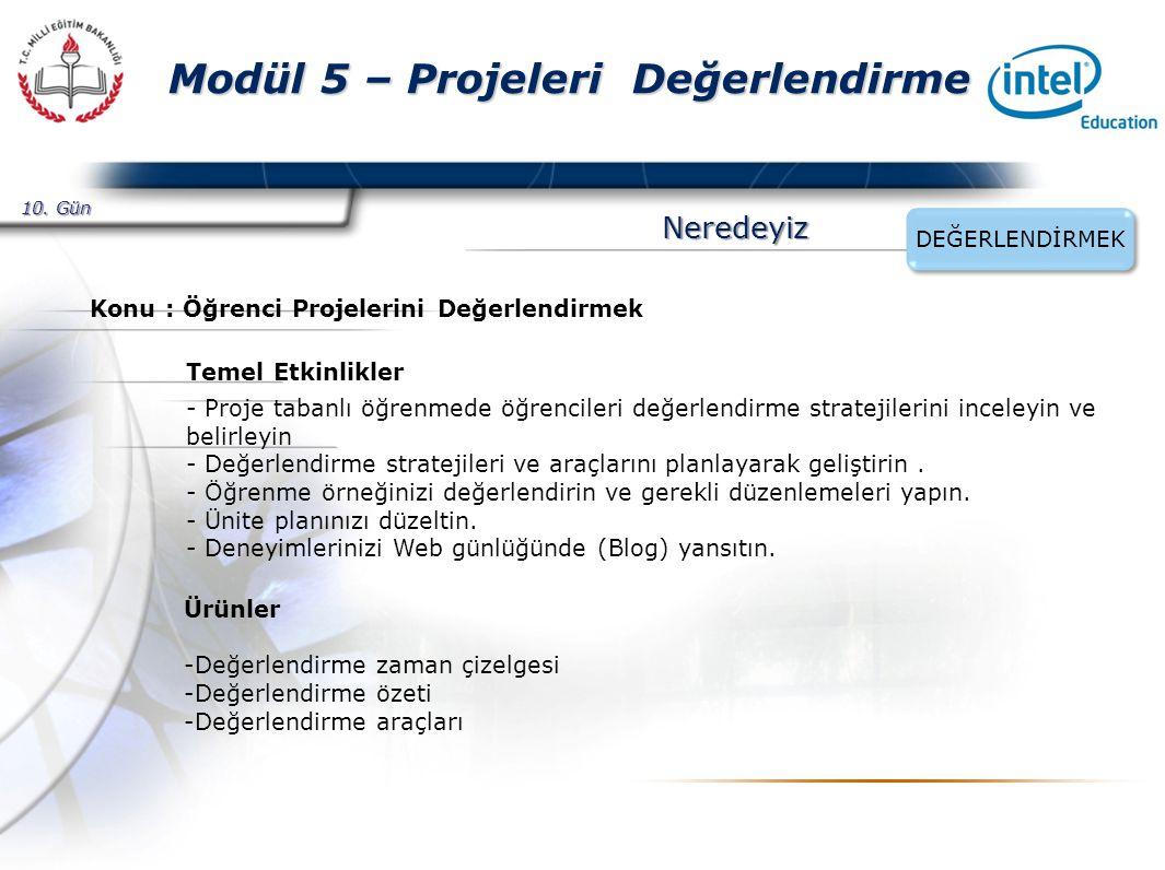 Presented By Harry Mills / PRESENTATIONPRO Modül 5 – Projeleri Değerlendirme Etkinlik 2 – Değerlendirme Araçları Geliştirmek -Değerlendirme araçlarını hazırlayacakları bu süreçte her katılımcıdan Proje Başlamadan Önce, Öğrenciler Projelerini Gerçekleştirmek için Çalışırken, Proje Tamamlandıktan Sonra üç ayrı alandan farklı araçlar seçmelerini ve bu araçları geliştirmelerini isteyin.