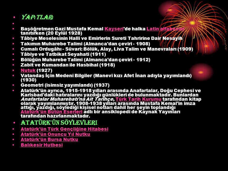 Yap ı tlar ı Başöğretmen Gazi Mustafa Kemal Kayseri'de halka Latin alfabesini tanıtırken (20 Eylül 1928)KayseriLatin alfabesini Tâbiye Meselesinin Hal