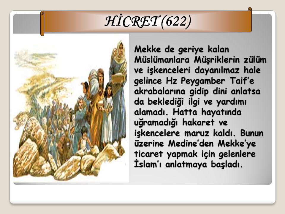 Mekke Devri nin 10 uncu yılı Şevvâl ayında önce peygamberimizin amcası Ebû Tâlib, üç gün sonra da eşi Hz.