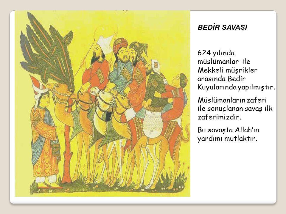 İslam dininin her geçen gün Medine de yayılıp güçlenmesiyle Mekkeli müşrikler korkuya kapıldılar.