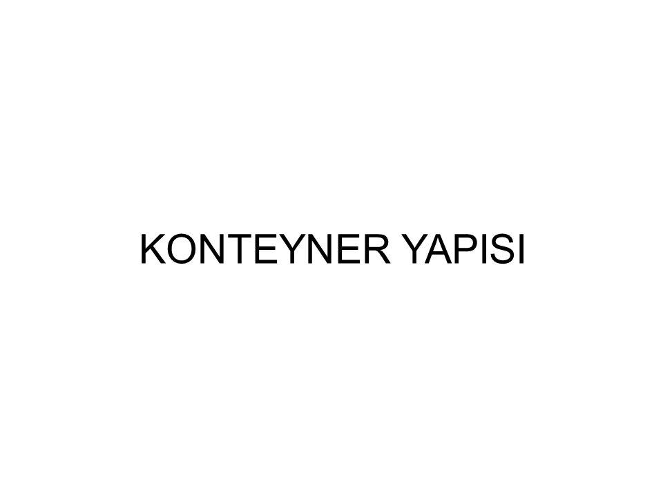 KONTEYNER YAPISI