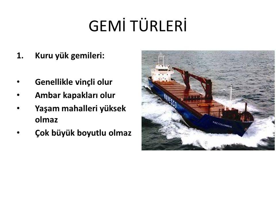 GEMİ TÜRLERİ 2.