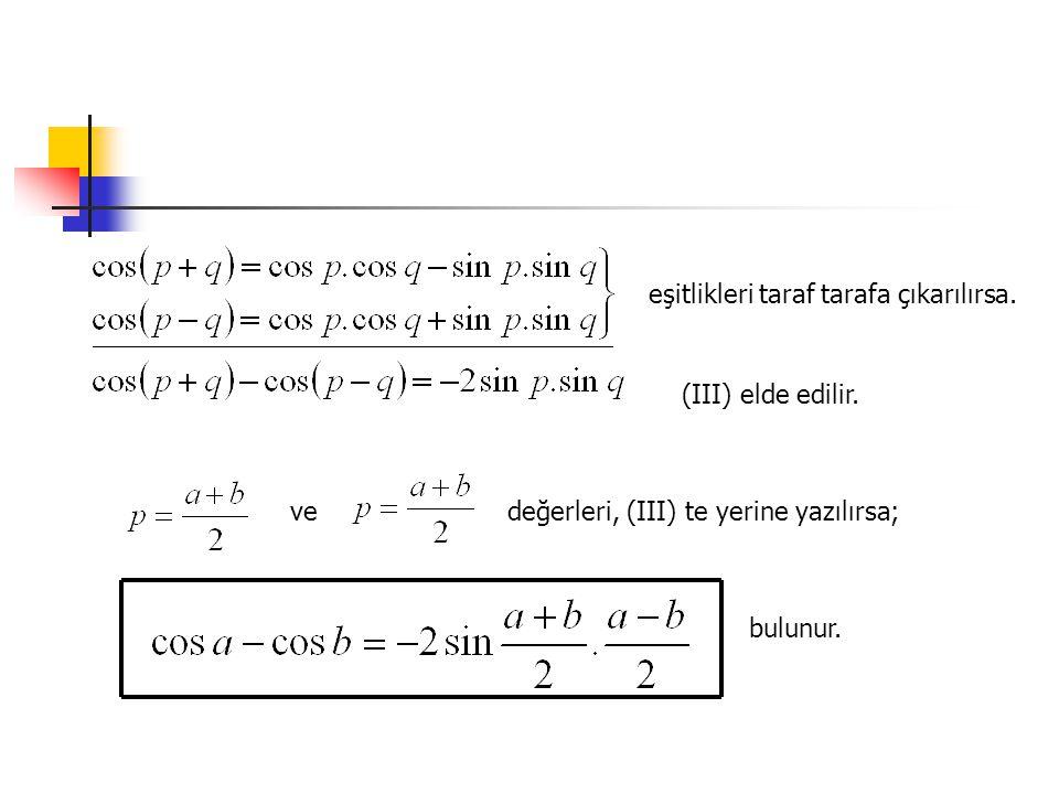 3.olduğunu gösterelim ÇÖZÜM:Uygun olan iki çarpanı alarak, ters dönüşüm formülü uygulayalım