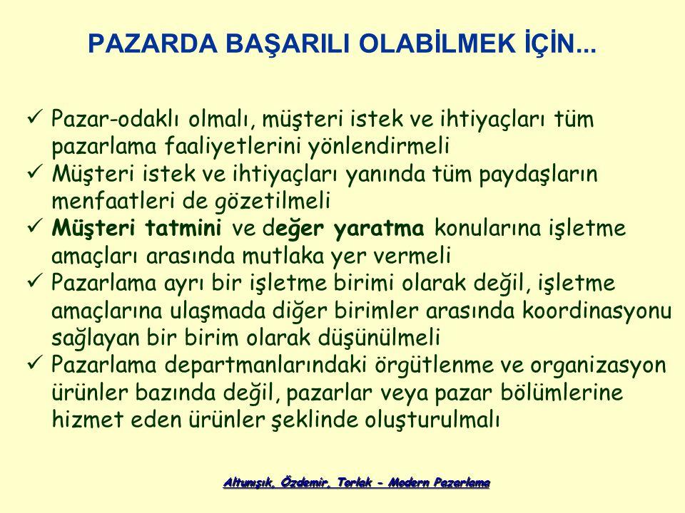 Altunışık, Özdemir, Torlak - Modern Pazarlama PAZARDA BAŞARILI OLABİLMEK İÇİN...