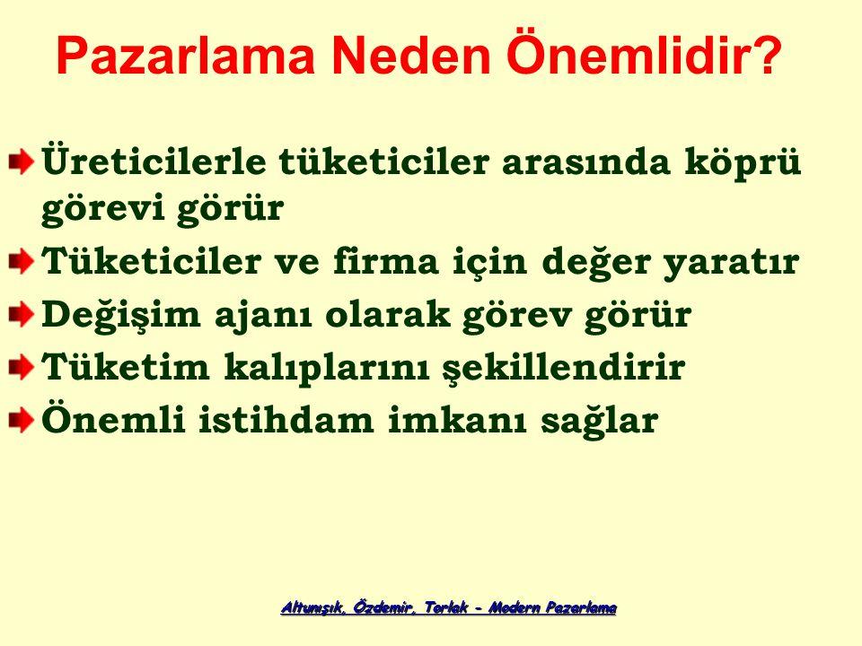 Altunışık, Özdemir, Torlak - Modern Pazarlama Pazarlama Neden Önemlidir.