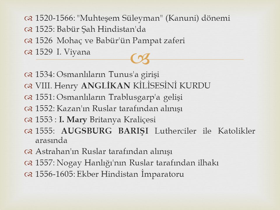   1520-1566: